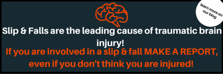 Graphic of slip and falls facts